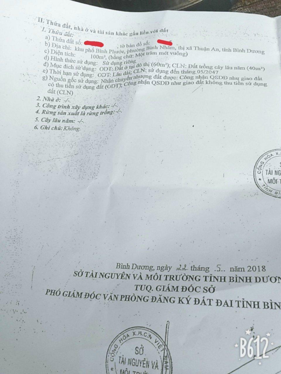 Đất Thành Phố Thuận An 100m2 Giáp Sài Gòn