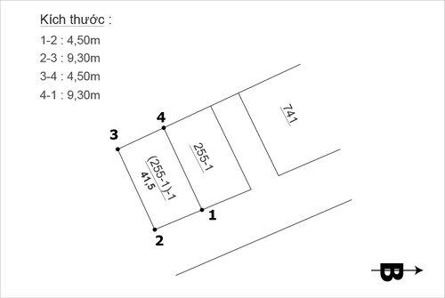 Cần bán nhanh lô đất Thượng Thanh, Hướng đông tứ trạch, 41,5m2, mặt tiền 4,5m